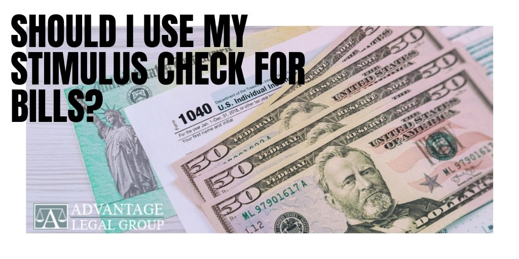 Should I Use My Stimulus Check for Bills?