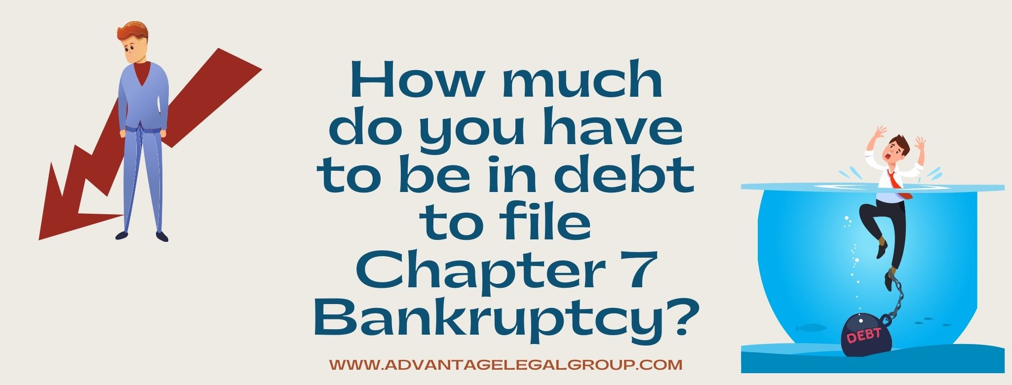 How much do you have to be in debt to file Chapter 7 Bankruptcy?